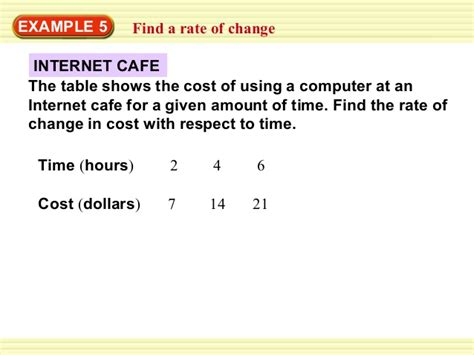 4 4 Rates Of Change How To Find Rate Of Change In A Table