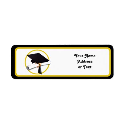 printable graduation return address labels 512px