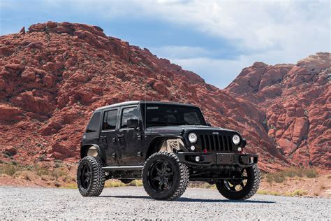 custom black jeep all black custom jeep wrangler lifted and fitted with