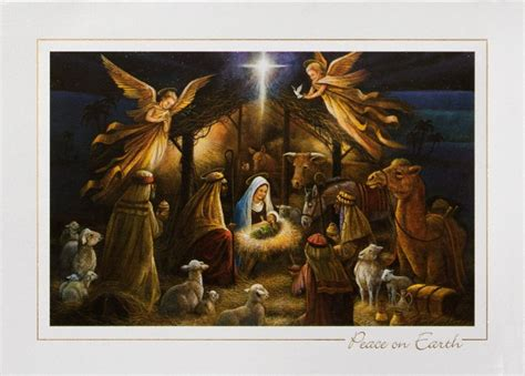 Printable Nativity Scene Christmas Cards | radiant nativity nativity from cardsdirect