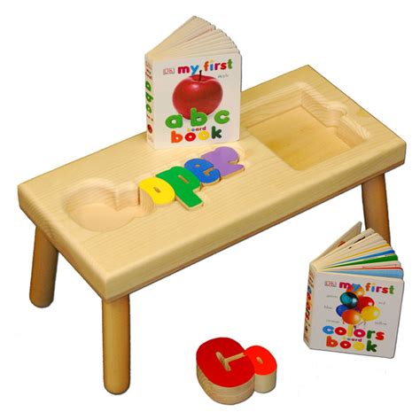Puzzle Stools by Name Puzzle And Book Stool Damhorst Toys Puzzles Inc Store
