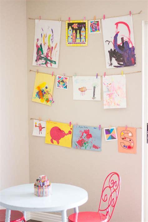 hanging kids artwork home decor weedecor