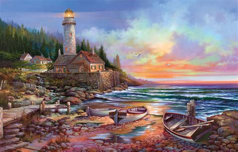 the old boat store quality cottages beckoning jigsaw puzzle puzzlewarehouse
