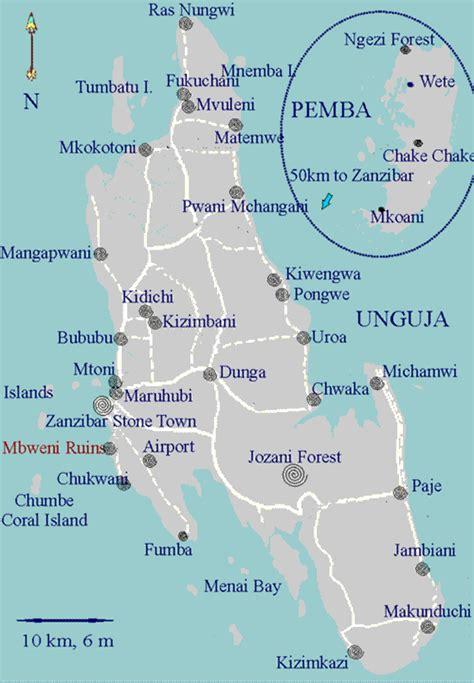 zanzibar map zanzibar tourist information