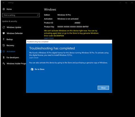 install windows 10 pro windows 10 suddenly got deactivated microsoft community