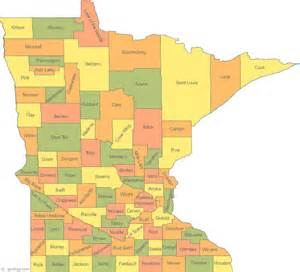 map of counties map of minnesota