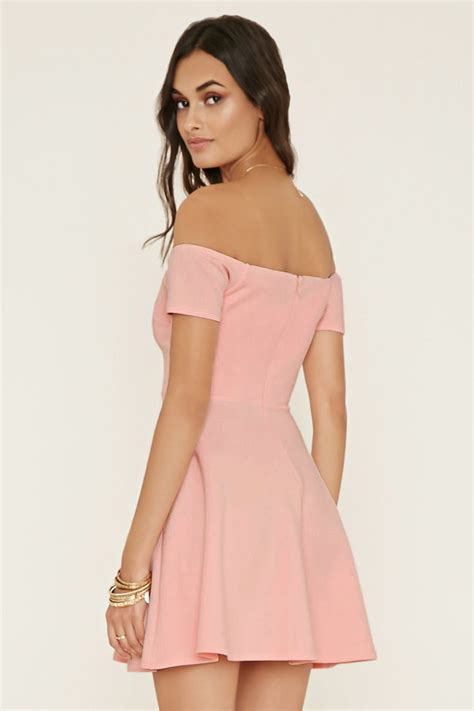 Frock Horror Of The Week Forever 21s Cowl Neck Dress by Lyst Forever 21 The Shoulder Dress In Pink