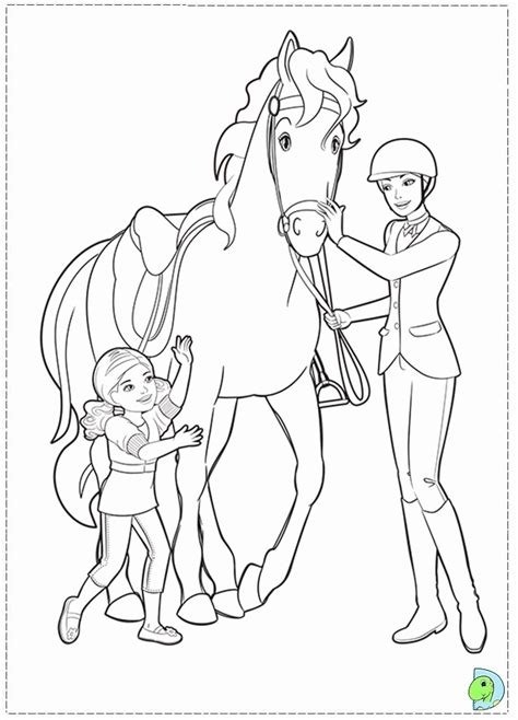 barbie and horse colouring pages az coloring pages