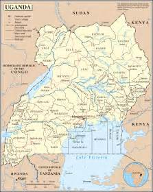 large detailed political and administrative map of uganda