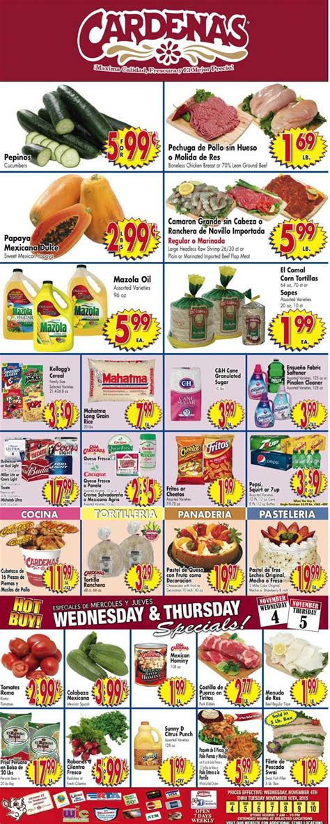 cardenas weekly ad for this week cardenas weekly ad november 4 10 2015 http www