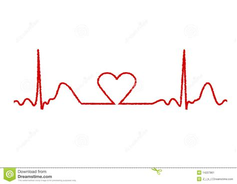 heart monitor stock vector image of ragged blood