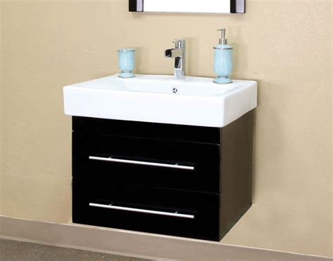 wall mounted sink cabinet modern wall mount sink simple steel and black granite