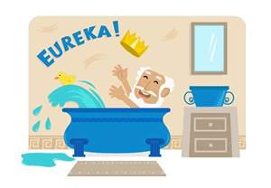 eureka bathtub eureka how archimedes discovered the most important