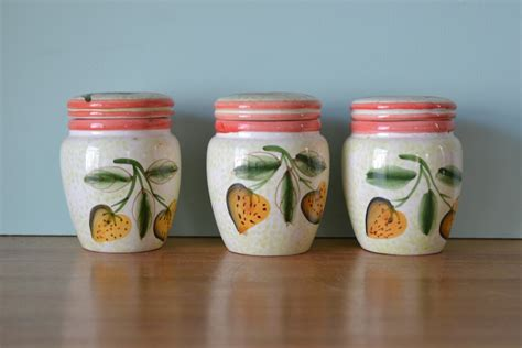 vintage ceramic kitchen canisters vintage ceramic kitchen canisters italy 3195 funky flamingo