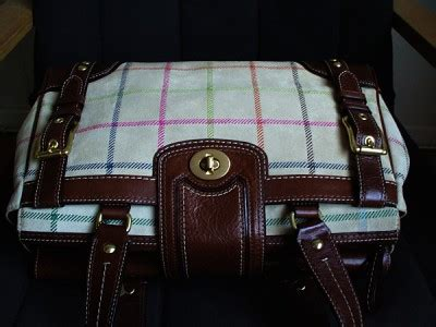Coach Htons Suede Plaid Carryall shopdotbags coach htons lg vintage plaid suede