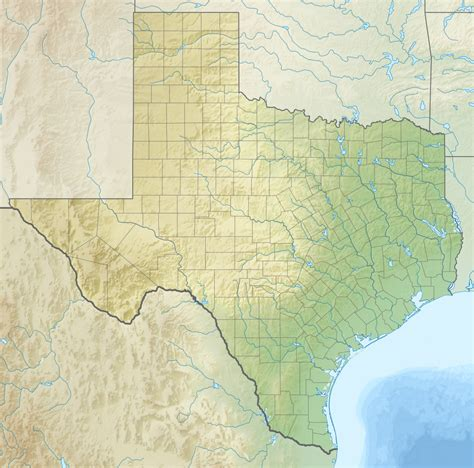 texa map geography of