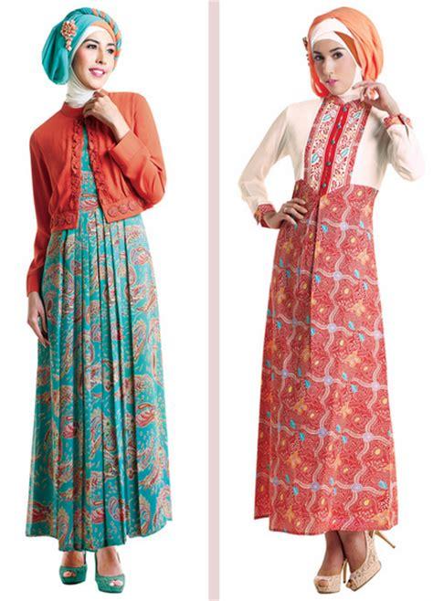 Baju Gamis Ibu2 50 gambar model baju batik gamis kombinasi terbaru
