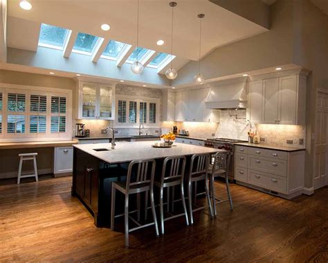 overhead kitchen lighting ideas kitchen track lighting vaulted ceiling lighting