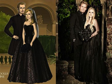 Avril Lavigne On A Stylish Wedding by Wedding Day Avril Lavigne And Chad Kroeger By