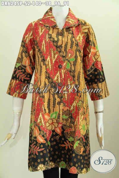 Istimewa Pakaian Wanita Dress Mimi jual pakaian batik dress istimewa baju batik printing pake kerah dan lengan model opneisel