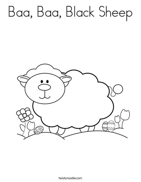 coloring page baa baa black sheep baa baa black sheep coloring page twisty noodle