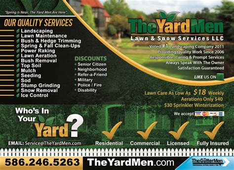 free printable lawncare card templates 8 best images of lawn care flyers printable professional