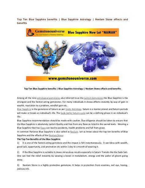 top ten blue sapphire benefits blue sapphire astrology