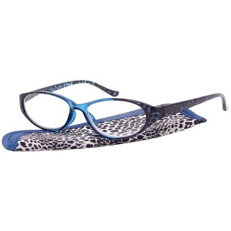 foster grant s plastic reading glasses sibyl blue
