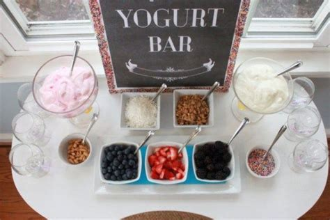 yogurt bar toppings pin by kelly f on party food pinterest