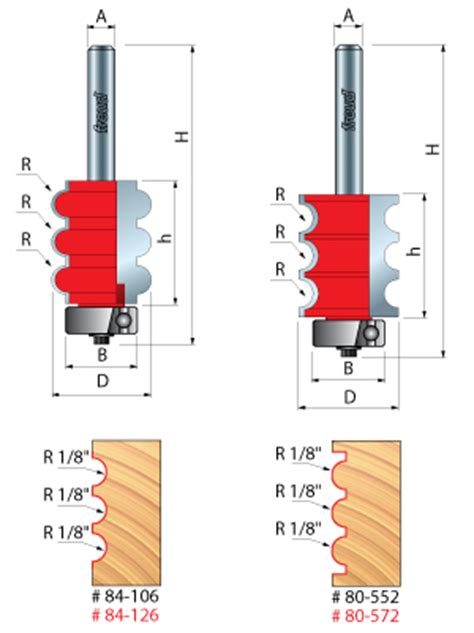 beading profiles freuds beading fluting router bits