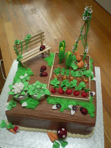 Garden Cakes Ideas 25 Best Ideas About Garden Cakes On Pinterest Vegetable Garden Cake Garden Birthday Cake And