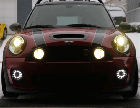 mini cooper led front driving light kit mini cooper
