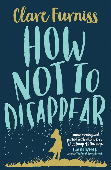 not books how not to disappear book by clare furniss official
