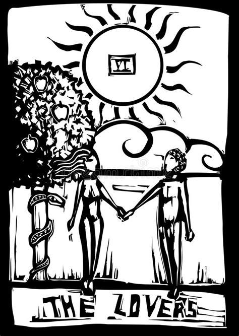Tarot Card Lovers stock vector. Illustration of magic