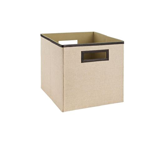 home decorators collection 11 in khaki fabric bin 37971