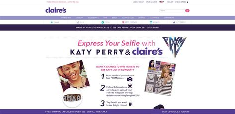Katy Perry Sweepstakes - claire s katy perry s prism collection sweepstakes win tickets to see katy perry