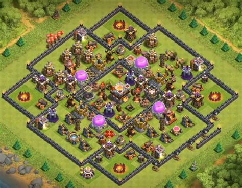 th10 trophy base town hall 10 trophy pushwar base anti golem anti coc th10 trophy base with bomb tower cocbases