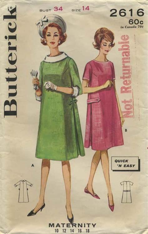 vintage maternity pattern vintage sewing pattern maternity dress butterick 2616