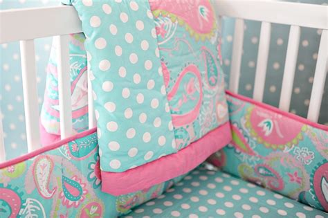 Paisley Baby Bedding by Paisley Baby Bedding Paisley Crib Bedding Aqua Baby