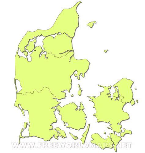 denmark on map denmark political map