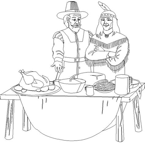 coloring pages for the first thanksgiving free printable thanksgiving coloring pages for kids