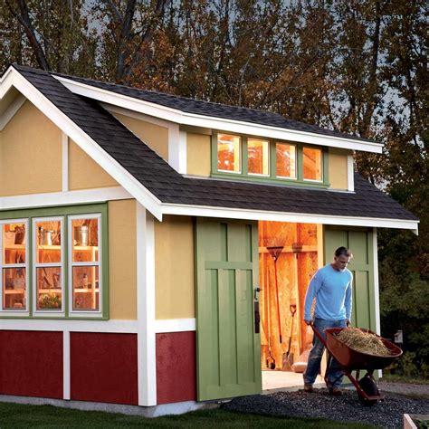 build  shed  garden shed  family handyman