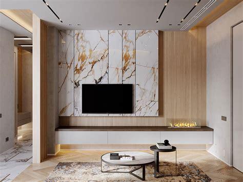 parete tv  idee  arredamento dal design originale