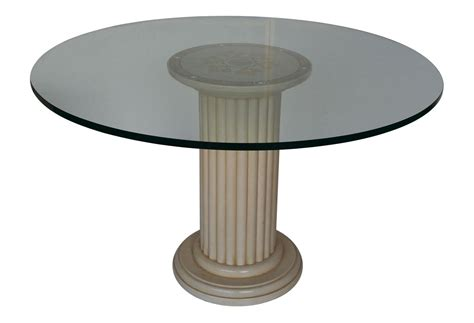 Glass Circle Dining Table Primula Glass Dining Table
