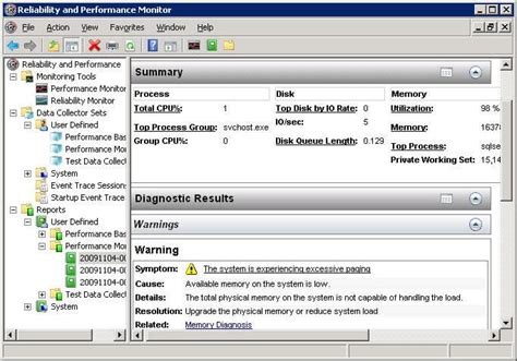 reliability report template windows reliability and performance monitor to