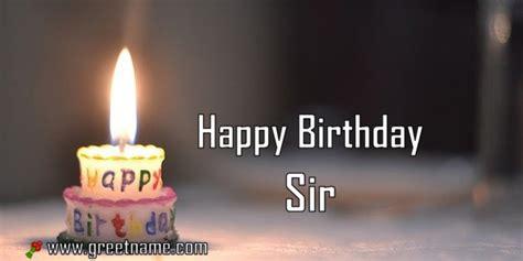 happy birthday sir candle fire greet