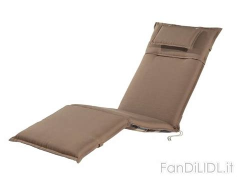 cuscino per sdraio cuscino per sdraio giardino fan di lidl