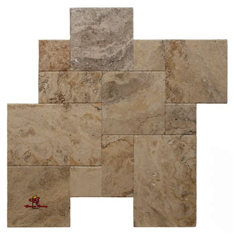 installing french pattern travertine tiles valencia brushed and chiseled edge french pattern los