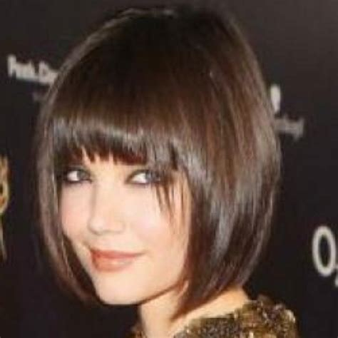 hair styles with slanted fringes kate holmes short bob with fringe cabelo pinterest