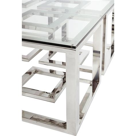 glass stainless steel desk mercer stainless steel silver square glass coffee table